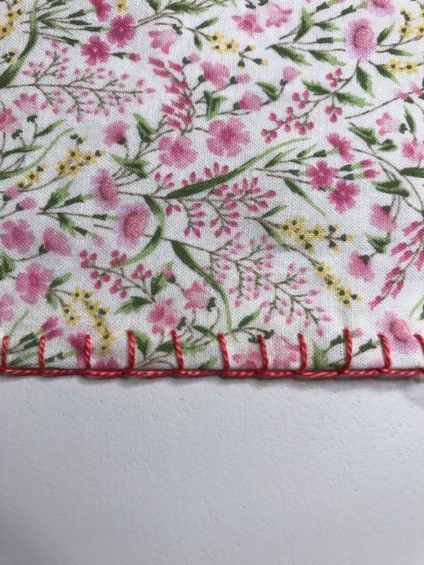 Finished blanket stitch edging sample