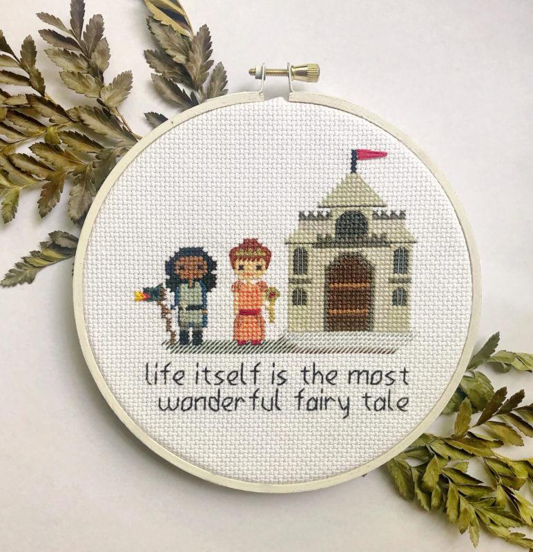 Fairy Tale cross stitch by Lizzy Dabczynski-Bean
