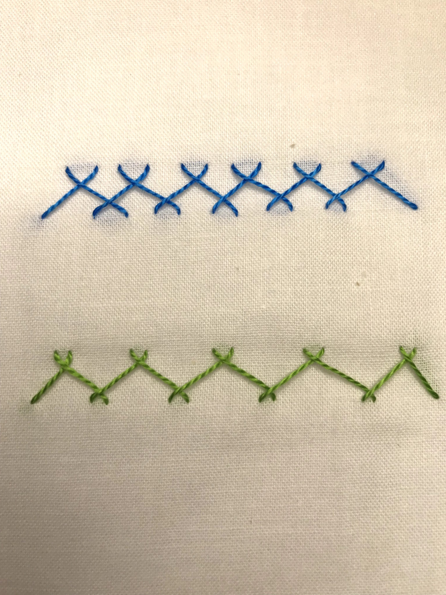 Herringbone Embroidery Stitch Final Sample
