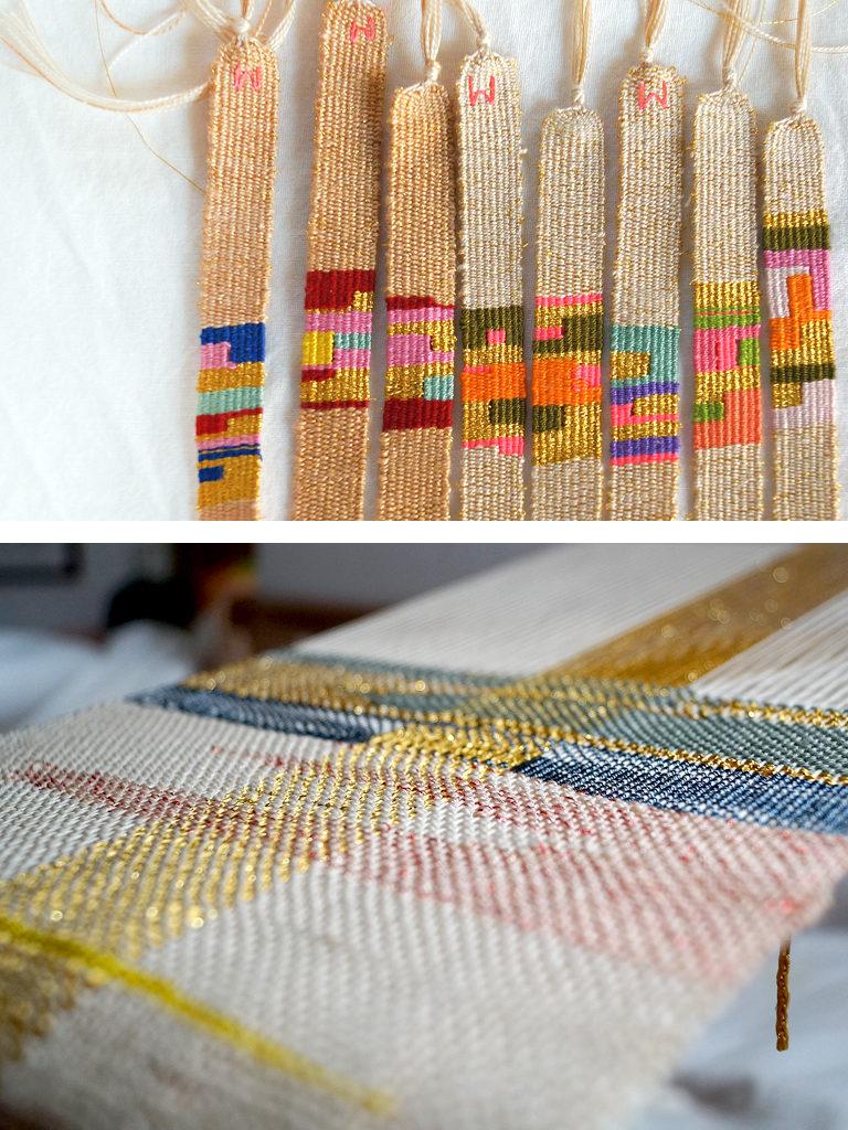 Weavings and bracelets