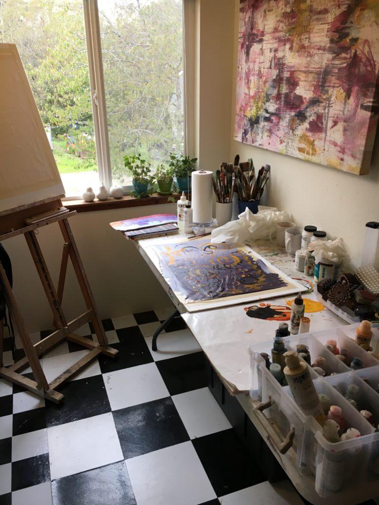 Katie Pasquini Masopust Painting TAble