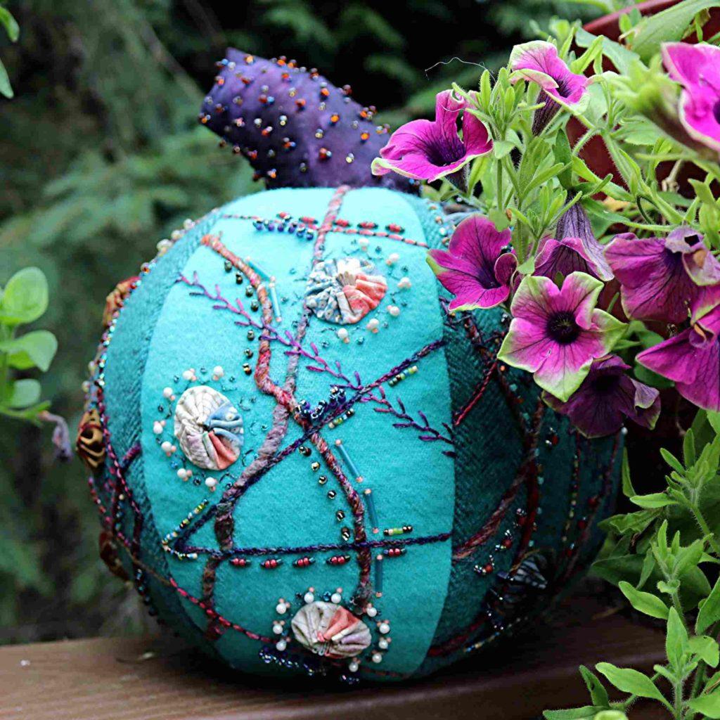 Crazy Embroidered Pumpkin Glamor Shot