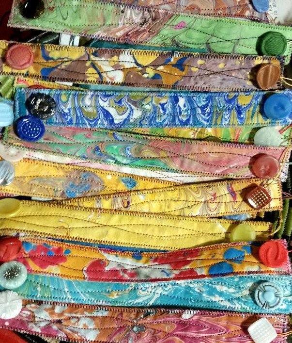 Marbled Fiber Bracelets