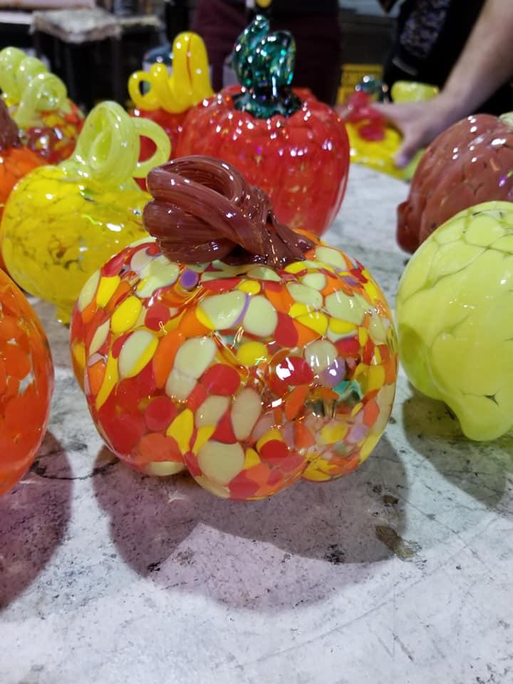 Glass blown pumpkins