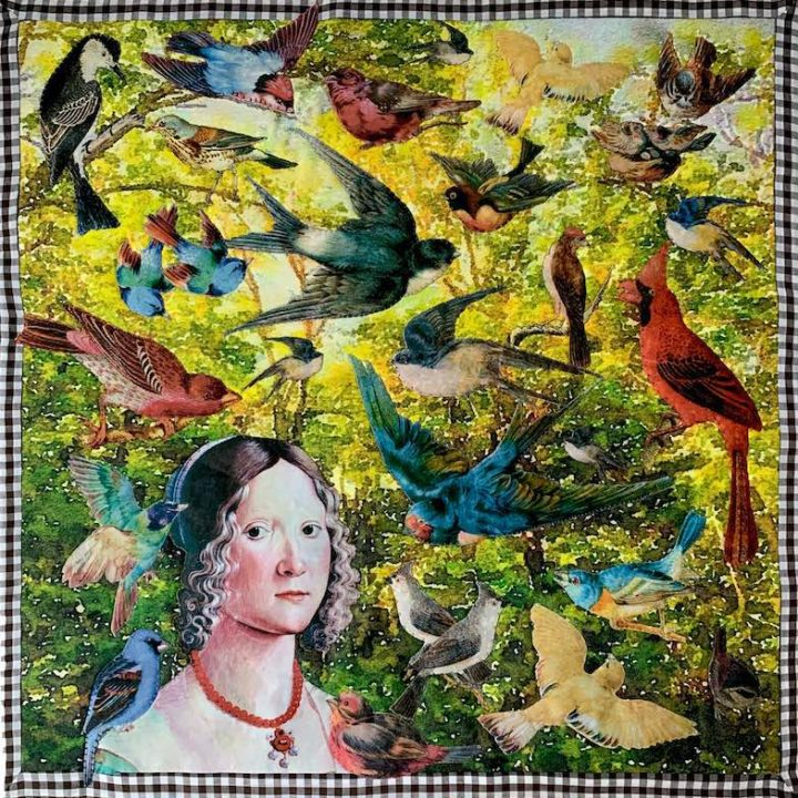 Bird quilt made with TAP by Lesley Riley