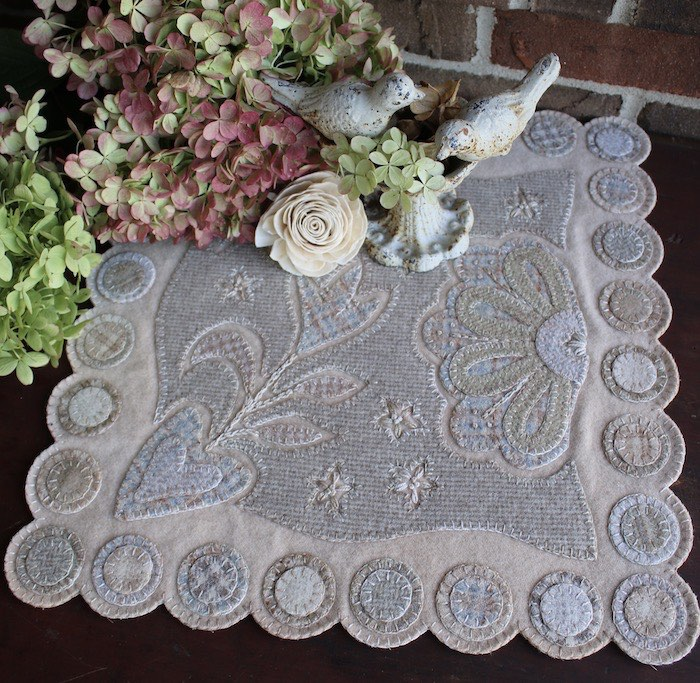 Wool table runner by Mary