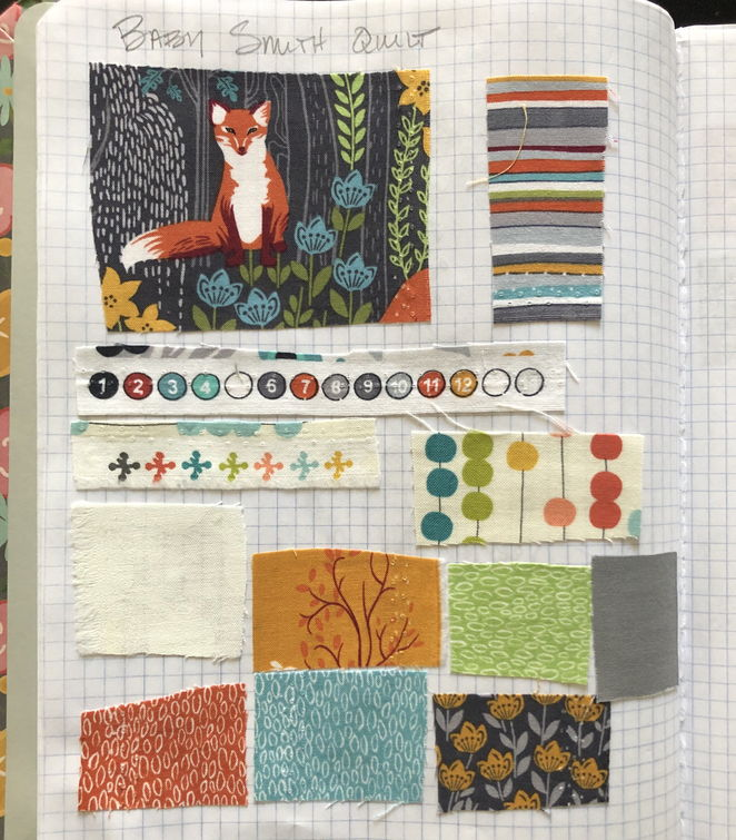 Ideas with fabric samples from Annie's sketch book