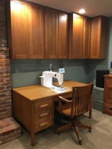 Cheryl's desk with quilting machine