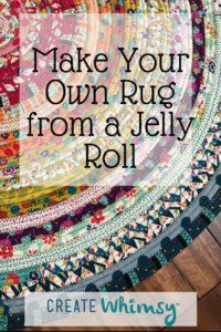 Jelly roll rug horizontal image for Pinterest
