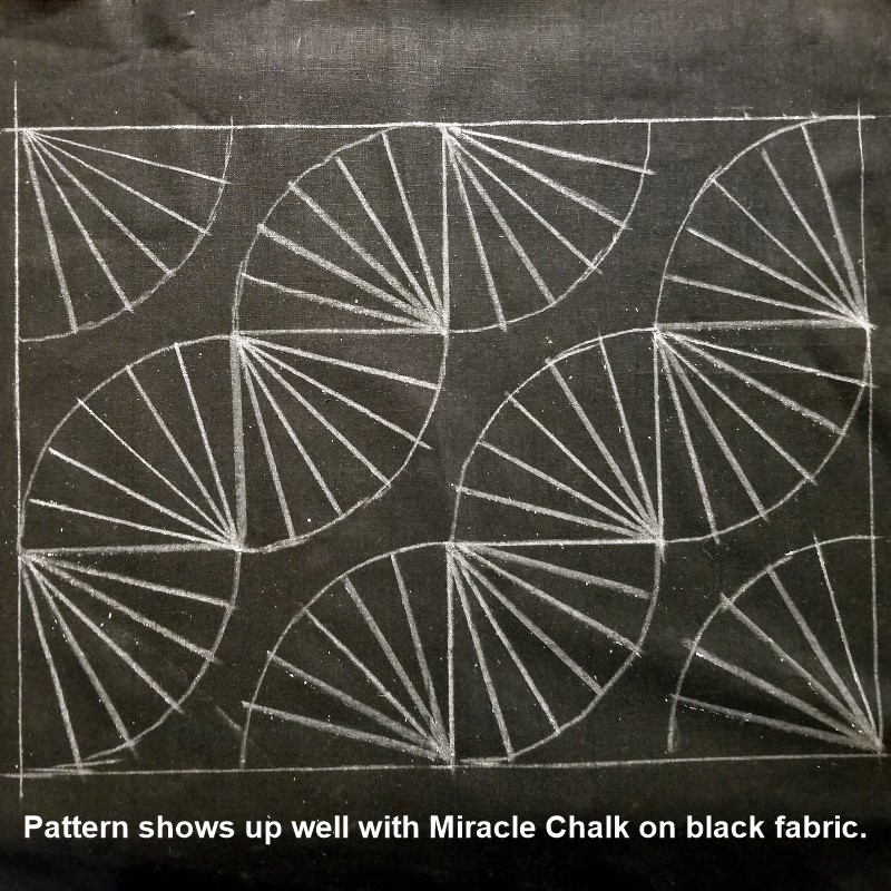Sashiko Pattern Marked on Fabric