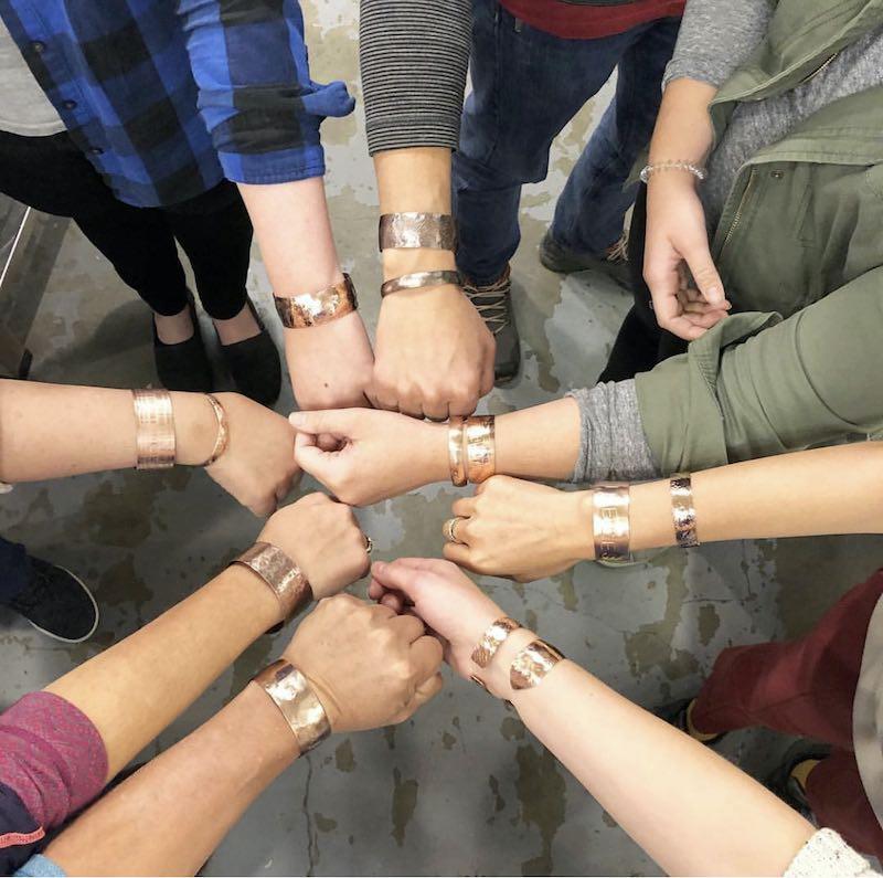 Bracelets made in a class taught by Adia Mei Jun Bobo