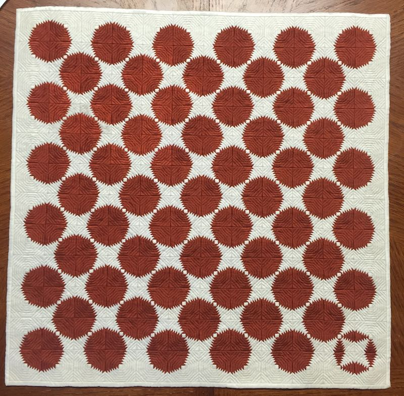 Copper Pennies mini log cabin quilt by Amy Pabst