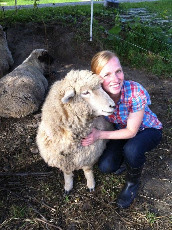 Jenny and a sheep