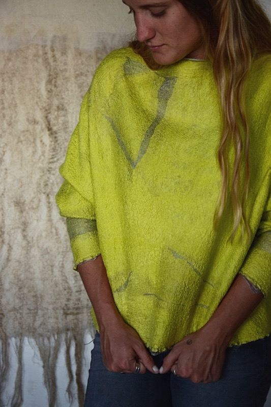 Felted top made by Micaela Losada