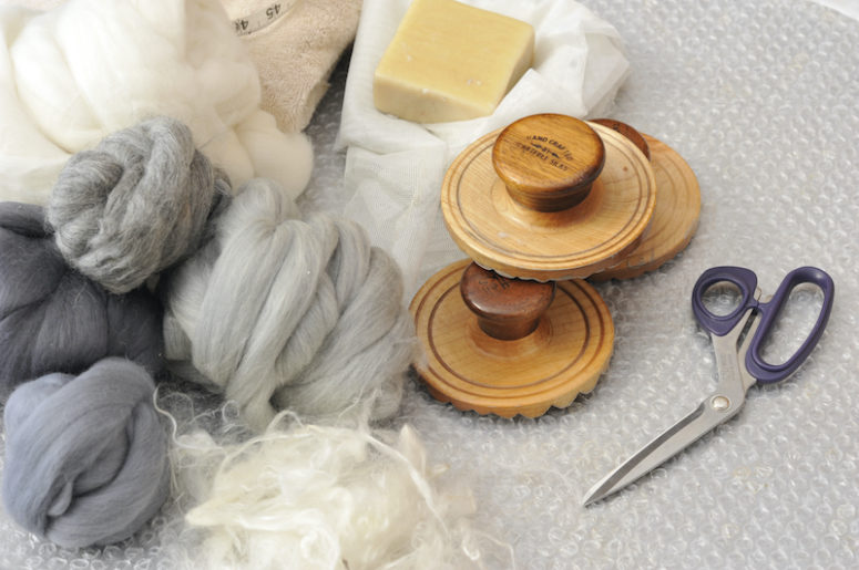 Tools used for wet felting