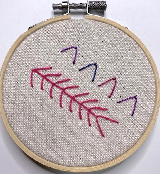 Fly stitch sample