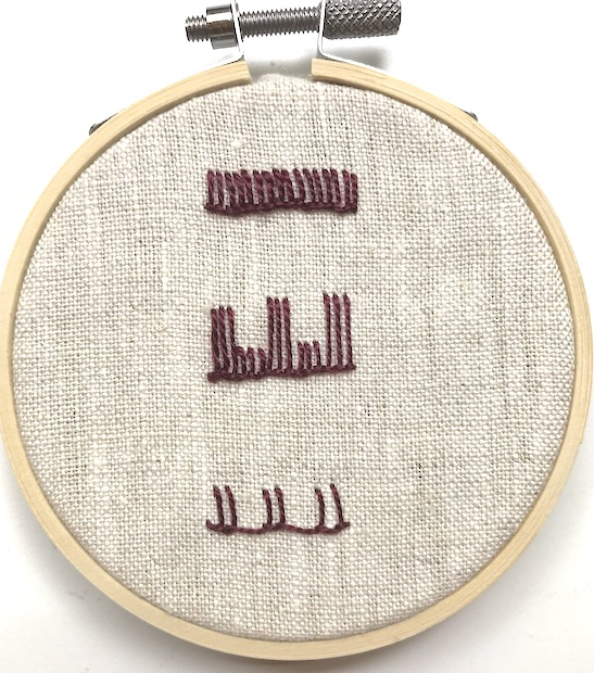 Variations on the buttonhole stitch