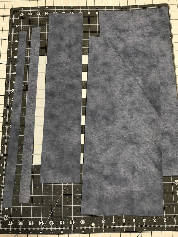 Kraft-tex pieces cut out for tote