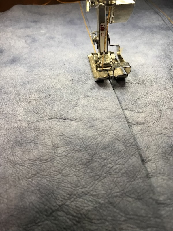 Sewing the bottom seam