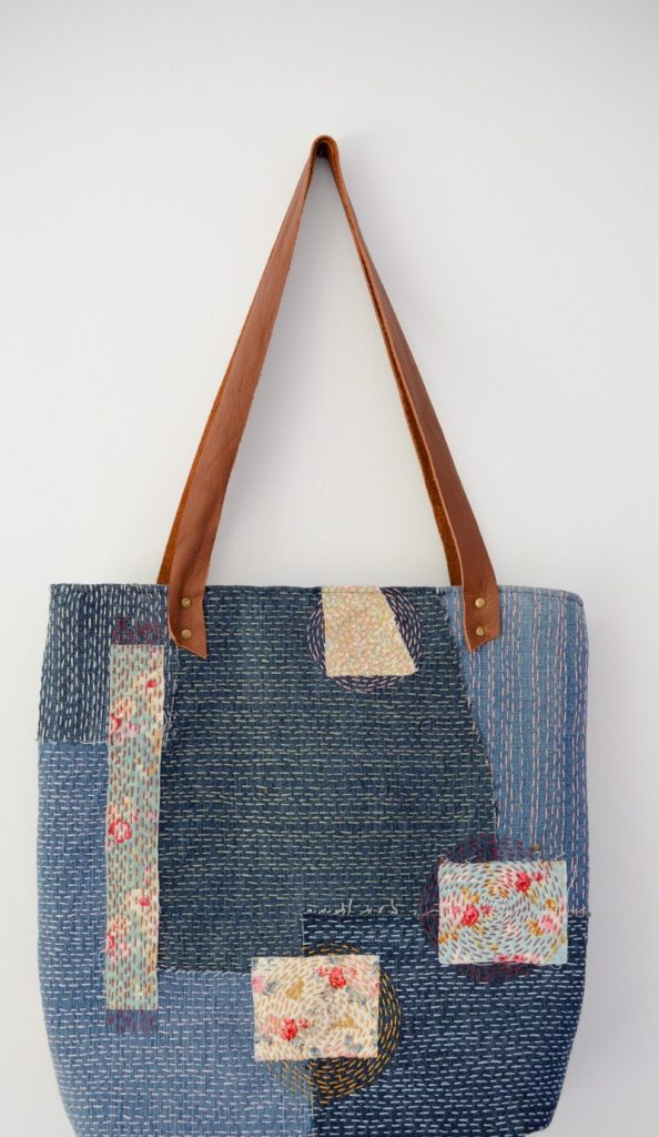Sashiko Denim Tote Bag