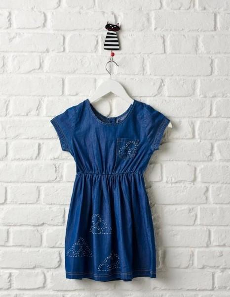 Sashiko Embellished Dress
