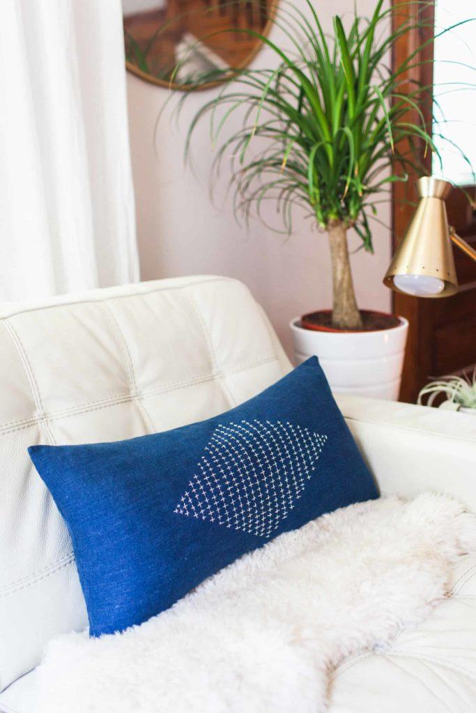 Sashiko Inspired Pillow