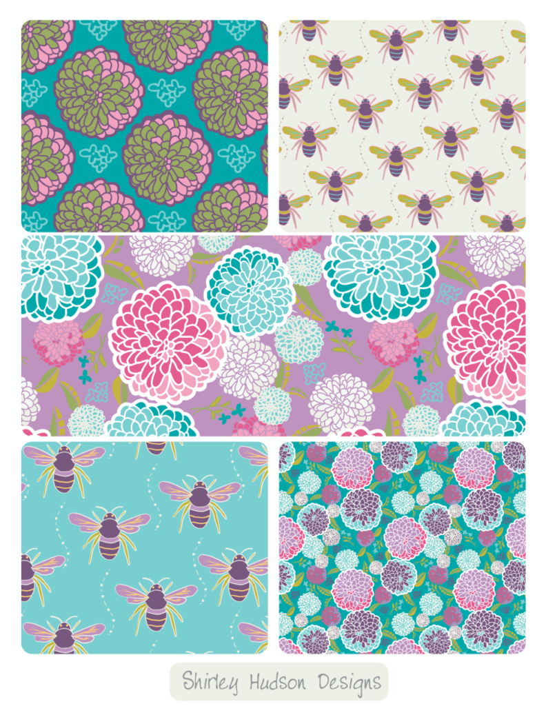 Fabric pattern designs by Shirley