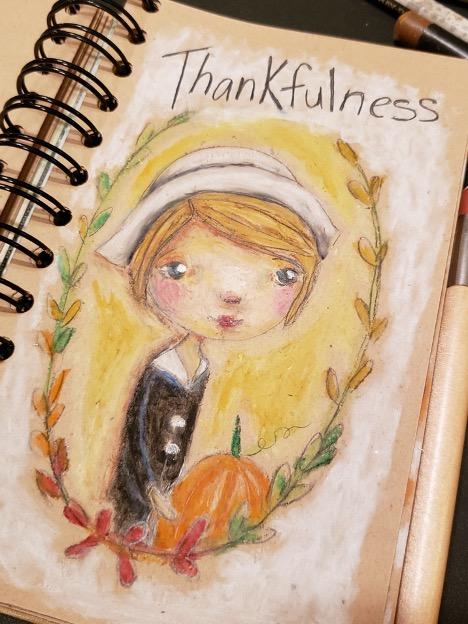 Sketch of a pilgrim