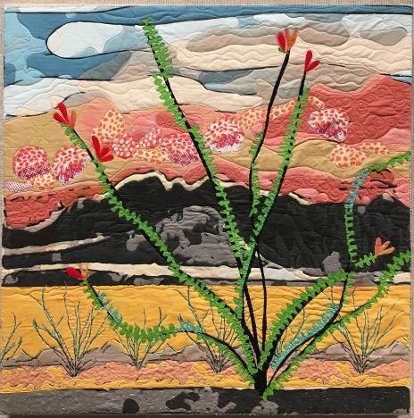 Cactus quilt at sunset