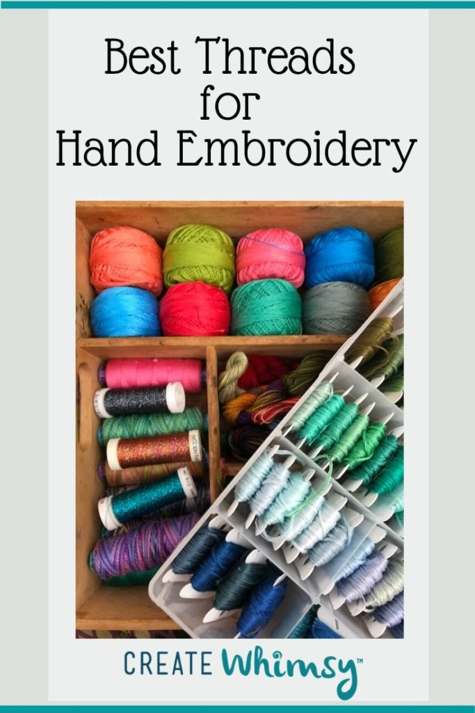Best Threads for Hand Embroidery Pinterest Post Image