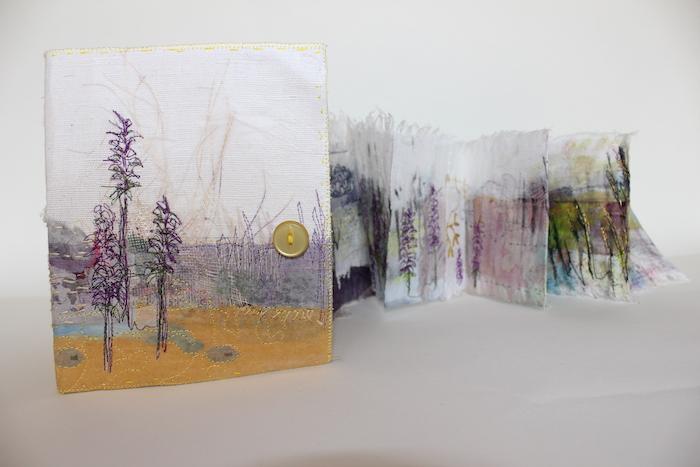 Lavender, textile book