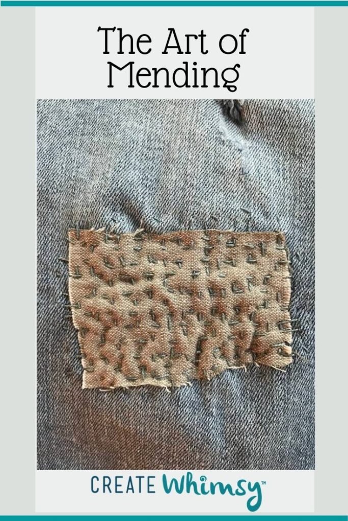 The Art of Mending Pinterest Image