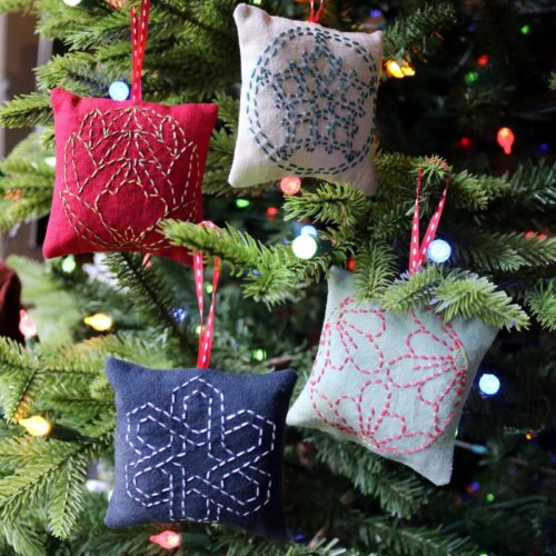Sashiko Ornaments Set 1