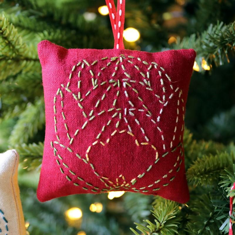 Sashiko Lotus Ornament