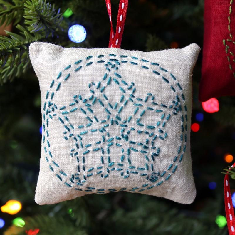 Sashiko Star Ornament