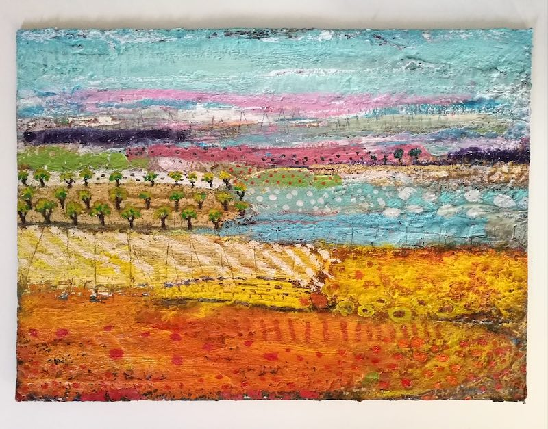 Encaustic painting by Annabel