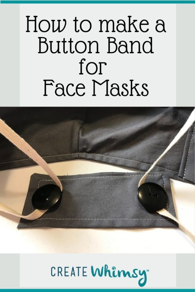 Button Band for Face Masks Pinterest Image