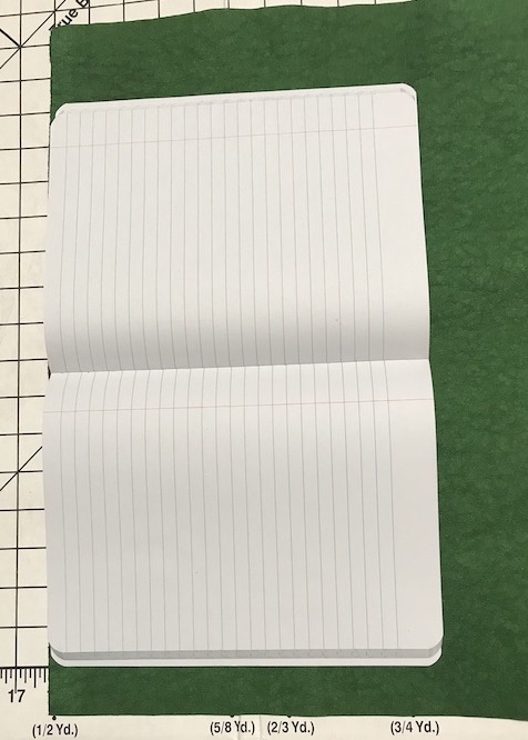 Measure your composition book on the KraftTex