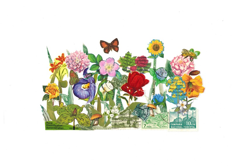 Flower Garden Stamp Art