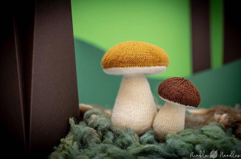 Knitted mushroom by Norman Schwarze