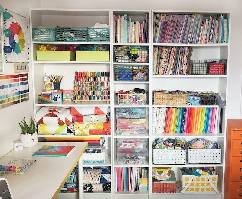 Paula's sewing storage area