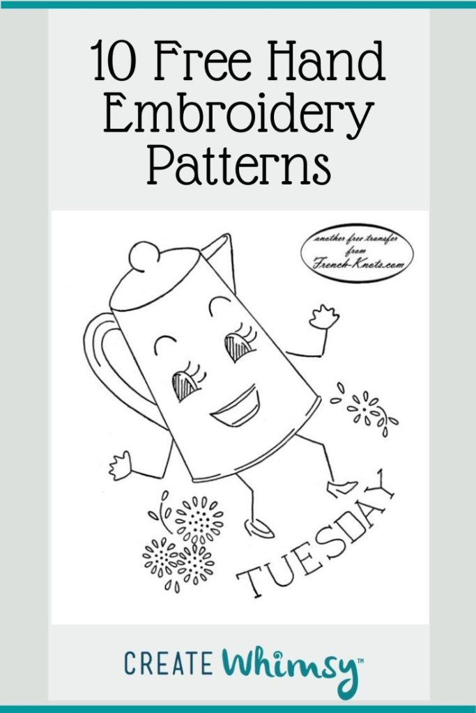 10 Links For Free Hand Embroidery Patterns Create Whimsy