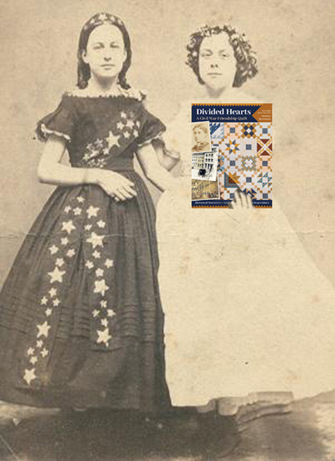 Vintage image from civil war times with Barbara's book cover
