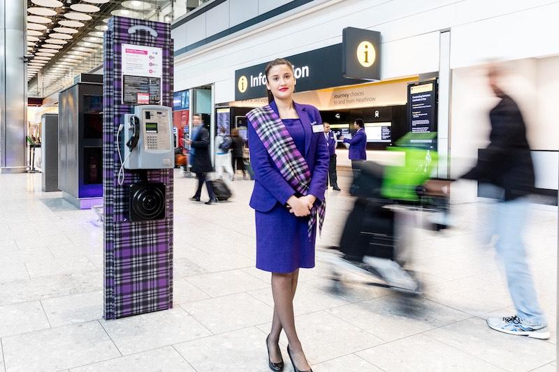 Heathrow Airport Tartan uniform designed by Jilli