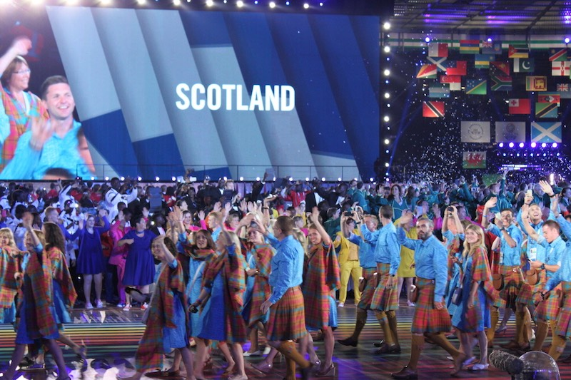 Jilli Blackwood Designs for the Scottish Team at the opening ceremony for the Commonweath Games in 2014