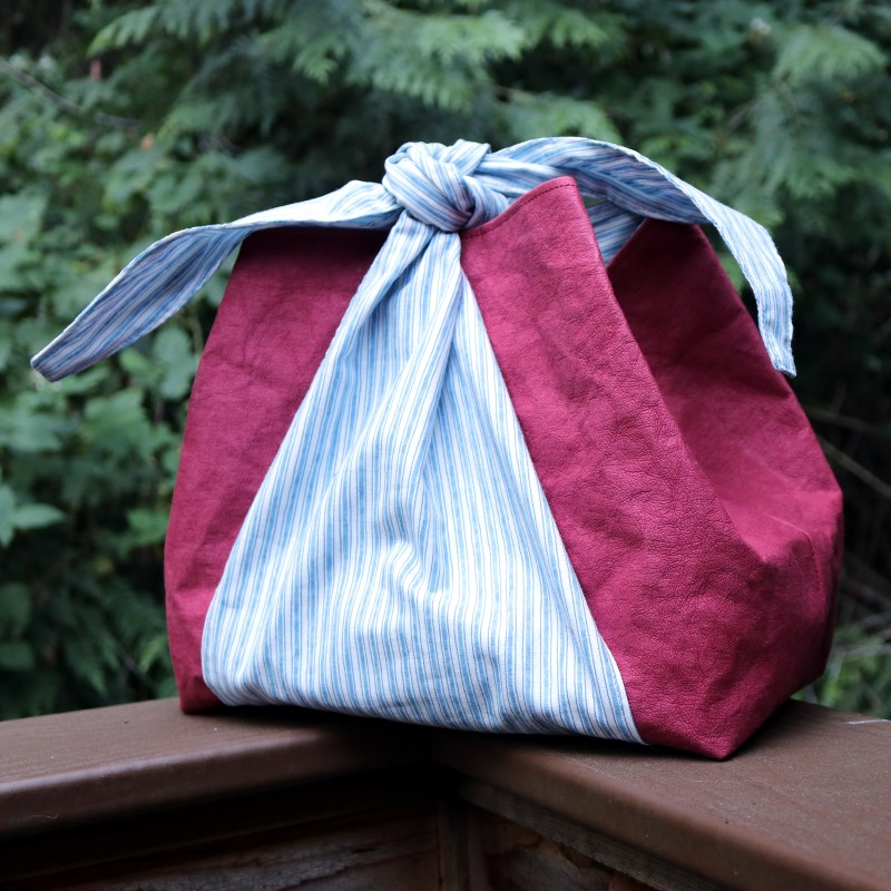Finished Kraft-Tex Furoshiki Bag 4