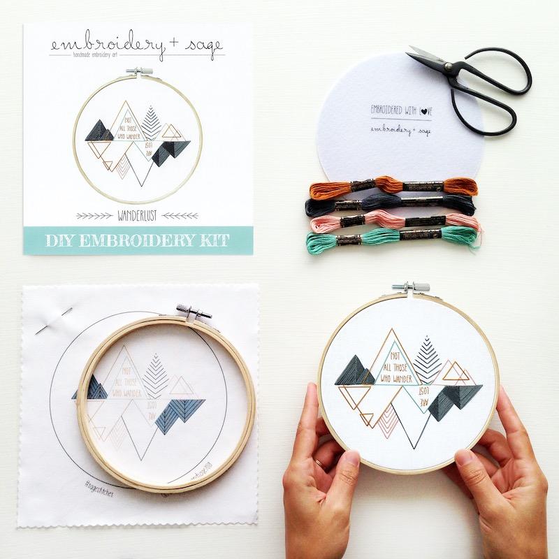 Wanderlust Embroidery Kit