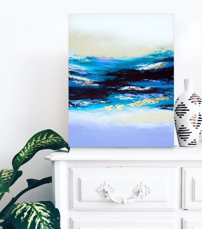 Ocean inspired painting by Alyson