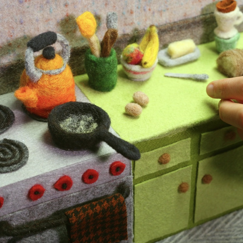 Cooking with wool by Andrea Love