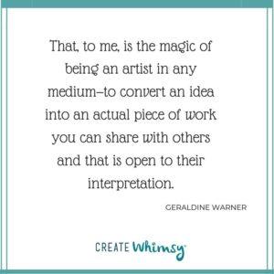 Geraldine Warner Quote